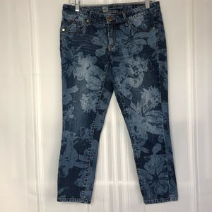 ❤️ Mossimo Floral Crop Jeans (6)